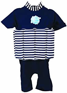 Splash About Boy's Classics UV (SPF50+) Sun Protection Float Suit - Navy White, 1-2 Years