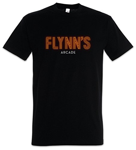 Flynn`S Arcade Herren T-Shirt Tron ENCOM Games City Flynn International Computer Technology Corporation Dr. Walter Gibbs Space Paranoids Light Cycles (Tron T-shirt)