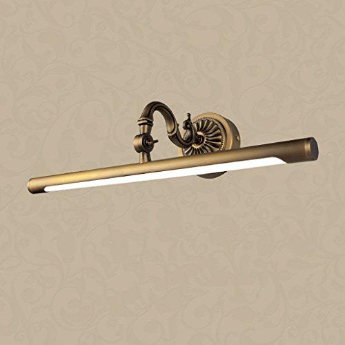 Europäische led scheinwerfer voll Kupfer Spiegel wc Schrank spiegel Lampe retro Wandleuchte (Größe: 45 * 15 cm)