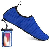 Zapatos de Verano Calzado de playa Comodos Agua Zapatos Para los Hombres las Mujeres (L:UK6.5-7.5(EU40-41):255-260, Blue)