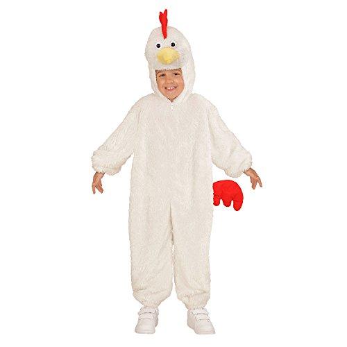 Fancy Kostüm Hahn Dress - Widmann 98091 - Kinderkostüm Huhn aus Plüsch, Overall mit Kapuze und Maske