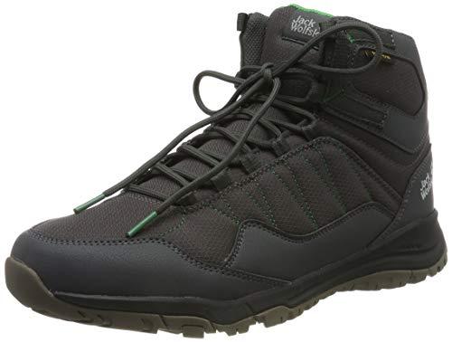 Jack Wolfskin Herren Maze Texapore Mid M Wasserdicht Trekking-& Wanderstiefel, Grau (Dark Steel/ Green 6057), 44 EU