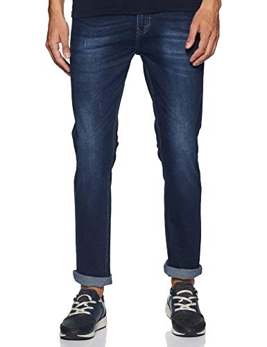 Max Men's Slim Fit Jeans (NOSSR232019_Dark Blue_36)