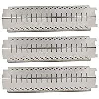Bar.b.q.s 94011 (3-Pack) BBQ Barbecue Replacement Gas Grill Stainless Steel Heat Plate Shield Tent Diffuser Deflector for FirePlus, Fire Mountain, Char-Broil, CosmoGrill, Campingaz and Other Model Grills, CBHP4