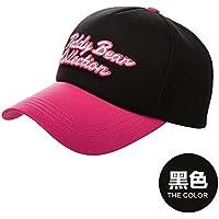 FQG*Cappelli invernali bambini marea cappello da baseball donna elegante protezione solare lettera cappuccio ricamato visiera CAPPELLI , in rosso e nero