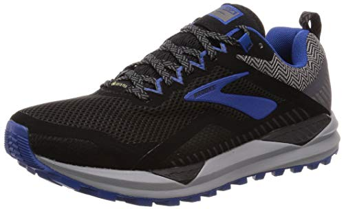 Brooks Cascadia 14 GTX, Zapatillas de Running para Hombre, Negro Black/Grey/Blue 053, 46 EU