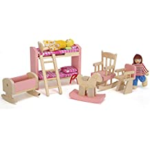 Wooden Furniture Doll House Miniature Children's Room Sets for Children Kids Gift