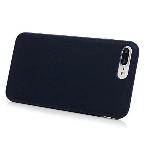 Badalink Hülle für iPhone 7 Plus TPU Case [3 Packs] Matt Einfarbig Cover Ultraslim Dicke 1.5mm Handyhülle Schutzhülle Silikon Bumper Schutz Tasche Schale Antikratz Backcover in Mintgrün Dunkelblau