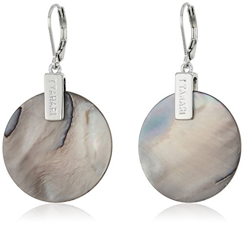 t-tahari-silver-shell-round-drop-earrings