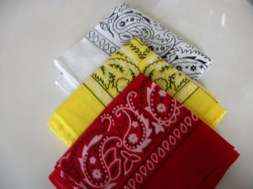three-pack-paisley-design-bandanas-white-yellow-red-fast-post