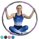 CORE BALANCE Aro de Fitness con Peso Acolchado Hula Hoop con diseño de surco Ondulado, 1.2 kg.