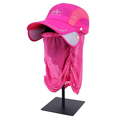 LDDENDP Outdoor Visier Gaze atmungsaktive Kappe Schal abnehmbare Fashion Classic Hut Männer und Frauen Sommer Reiten Maske Angeln schnell trocknende Baseball Cap einziehbare UV-Schutz UPF 40+ einstell -
