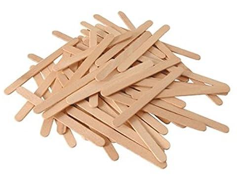 Les 48 batonnets en bois pour glace sucettes