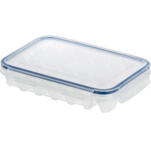 emsa eiswuerfelbehaelter Emsa 505320 'Clip & Close' Eiswürfelbereiter für 21 Eiswürfel, 22 x 14,5 x 4 cm, transparent/blau (2 Stück)