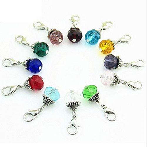 hänger mit Karabinerverschluss, Schmuckherstellung, DIY Anhänger, Zubehör für schwebende Medaillon-Charm-Halsketten, zufällige Farbe ()