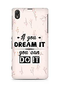 Amez If you can Dream it You can do it Back Cover For Sony Xperia Z1 C6902