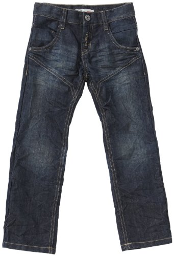NAME IT Jungen Hose Normaler Bund 13088832 NEW BUZZ KIDS REG DNM PANT, Gr. 128, Blau (DENIM)
