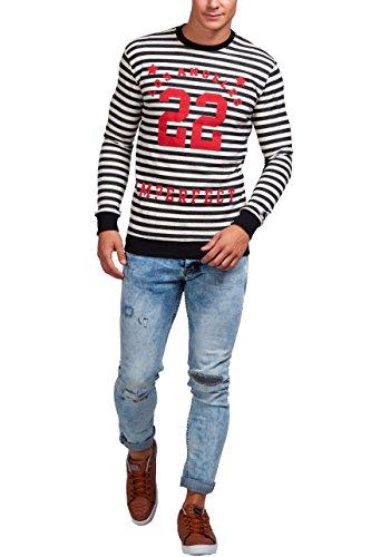 BOLF Herren Sweatshirt Pulli Langarmshirt Rundhals Classic ATHLETIC 0594 Schwarz_71