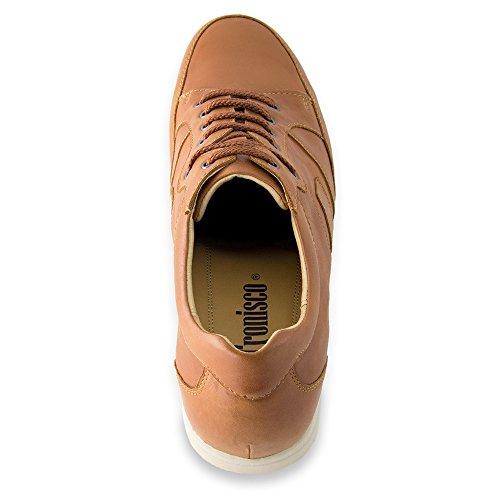 Masaltos - Chaussures rehaussantes pour homme. Jusqu'à 7 cm plus grand! Modèle Ibiza Brun