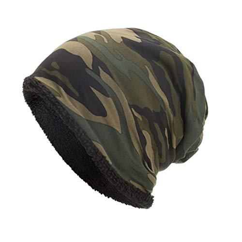Celucke Beanie Herren Damen Tarnung Strickmützen, Männer Frauen Warm Crochet Stricken Ski Beanie Slouchy Caps Hut -