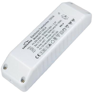 Elektronischer Halogen Trafo 230V auf 12V, 50-150 Watt mit Überlastungsschutz und Temperatursicherung