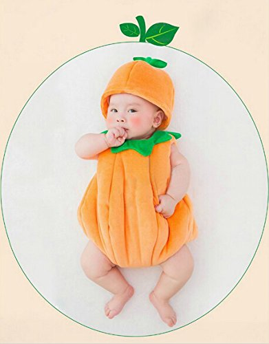 Cute Baby Newborn Infant handgefertigt Crochet Beanie Hat Kürbis Stil Baby Kleidung fotografiert Zubehör, Cartoon Fashion Kinder Fotografie Requisiten Foto Requisiten Kostüm Kleidung tragen (geeignet für Babys 0–22Monate zu tragen)