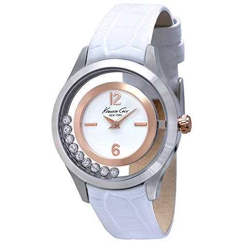Kenneth Cole Ladies Watch Transparency white / silver / rose gold KC2785