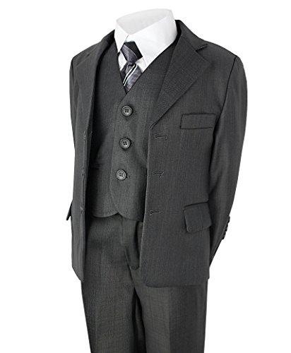 LOTMART Boys 5 Piece Suit Wedding Party Jacket Trousers Shirt Waistcoat Tie