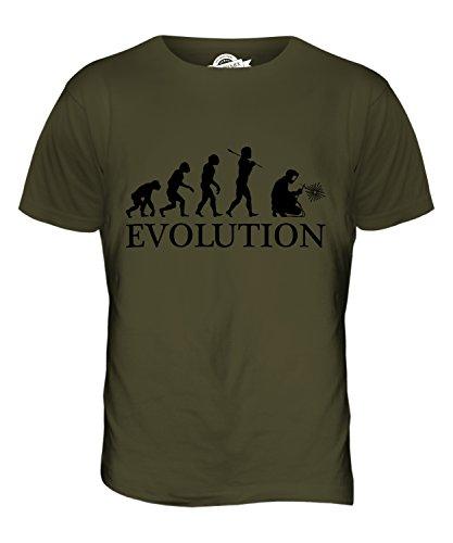 CandyMix Schweißer Evolution Des Menschen Herren T Shirt Khaki Grün