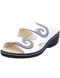 LONGO Damen 1006481 Braune Glattleder Fußbettpantolette Größe 38 Caffee