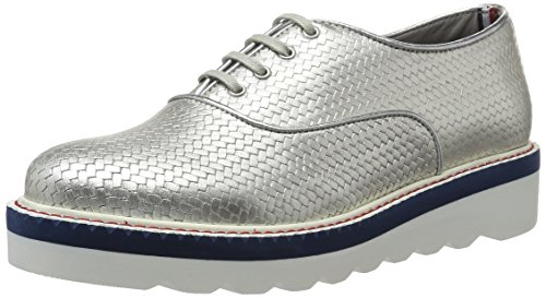 Tommy Hilfiger P1285aulina 2a1, Derby Femme Argent (Light Silver 041)