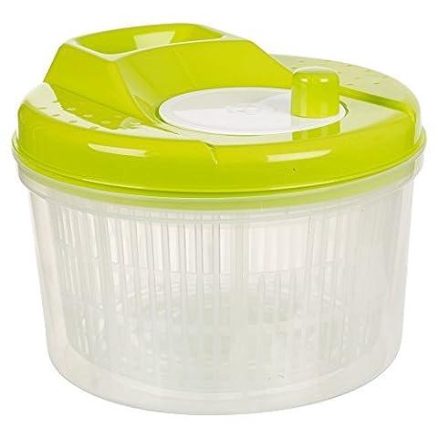 Salad Spinner Vegetable Dryer Colander Plastic Bowl (Green)