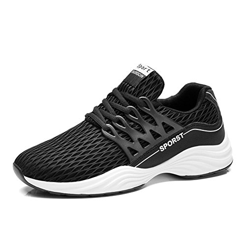 Uomo Scarpe da Corsa outdoor multisport Respirabile Mesh Running Sneakers Nero