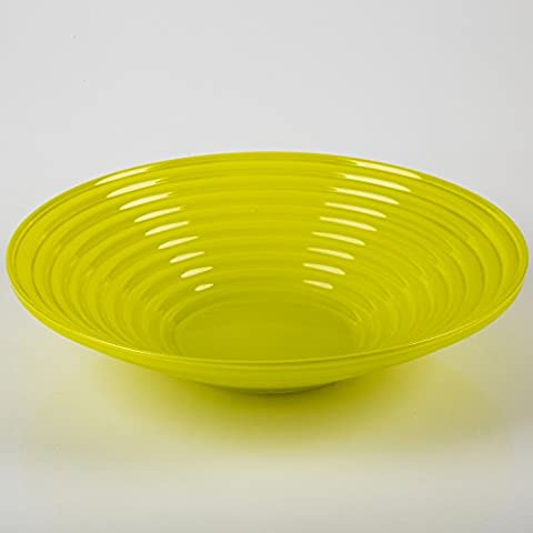 Grooved glass bowl SELMA de Luxe, yellow - green, 2.4