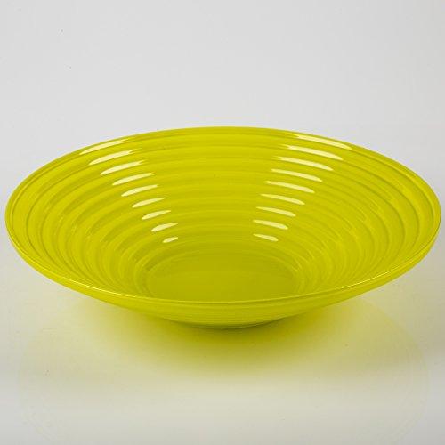 gerillte-glasschale-selma-de-luxe-gelb-grun-6-cm-oe-27-cm-flache-glasschale-tischdekoration-inna-gla