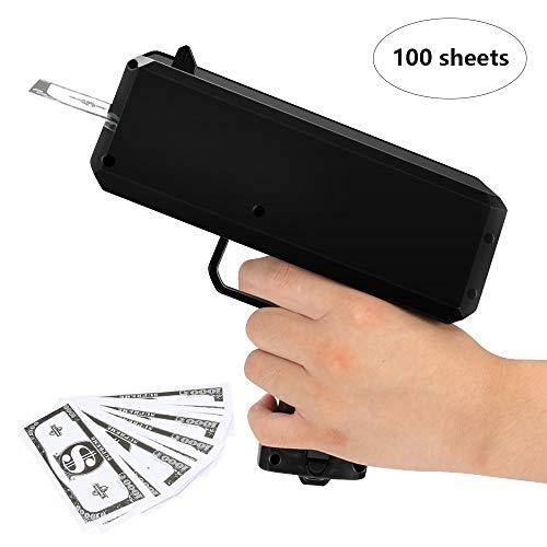 CestMall Super Money Guns, Moneycannon Dinero Pistola Que Lluvia Dinero Haga Que llueva Navidad Juguetes Moda Toy Gift 100 Cash (Negro)