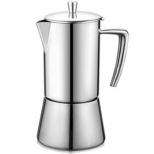 Updated Version Ecooe Edelstahl Moka Espressokocher Kaffeekocher Mokakocher 6 Tassen Mokakanne
