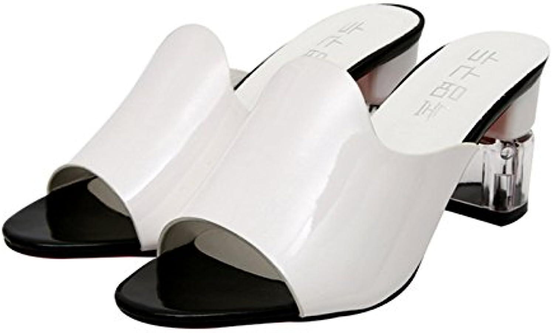 Aa-nvliangxie Frauen Sandalen Damenschuhe Dicke Talsohle Hänge und Sandalen. EU 37 Cn 38 Weiß