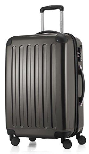 HAUPTSTADTKOFFER - Alex - 3er Koffer-Set Trolley-Set Rollkoffer Reisekoffer Erweiterbar, TSA, Doppelrollen, (S, M & L), Graphit - 4