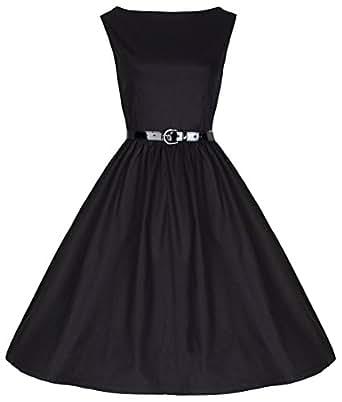 c01d7d3aff38b Lindy Bop 'Petite' 'Audrey' Hepburn Style Vintage 50's Black Evening Dress (