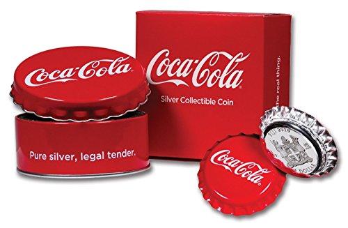 2018Coca Cola Flasche GAP geformte $1Ein Dollar Silber Beweis, Münzbox Echtheitszertifikat