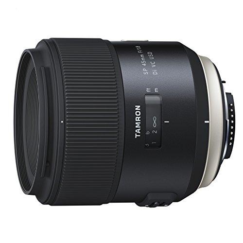 Tamron SP - Objetivo para Nikon DSLR (distancia focal fija 45 mm, apertura f/1.8, Di, VC, USD, diámetro filtro: 67 mm), negro