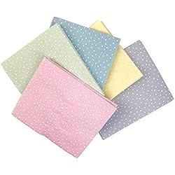 The Craft algodón 18 x 55,88 cm 5 piezas Fat Pastel Juego de lunares de tela