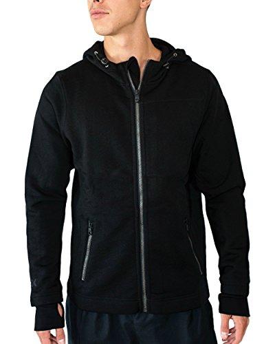 WoolX Grizzly - Men's Full Zip Hoodie Sweatshirt - Merino Wool - Extremely Warm