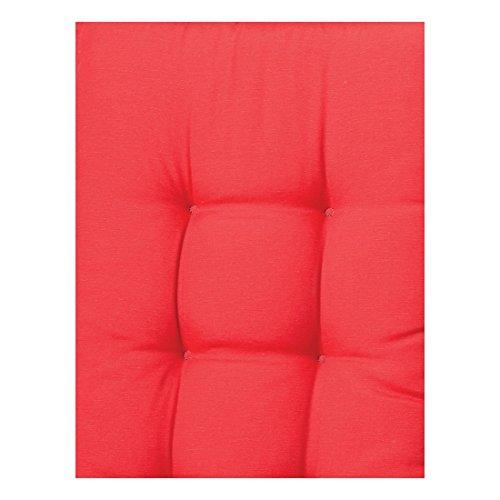 Madison 7BA11B220 Panama Coussin pour banc 75% coton 25% polyester Rouge 140 x 48 x 8 cm
