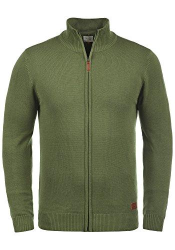 Blend Norman Herren Strickjacke Cardigan Feinstrick Mit Stehkragen und Reißverschluss, Größe:M, Farbe:Burnt Olive (77011)