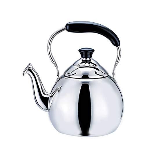 Bouilloire induction Bouilloire en acier inoxydable, bouilloire sifflante, cuisinière à gaz électrique en céramique, épaississement universel WHLONG (Size : 4L)
