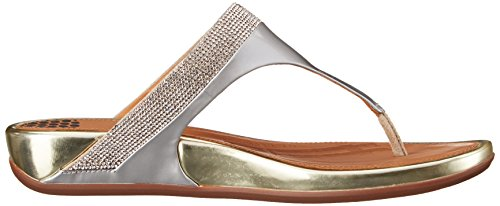 FitFlop Zehentrenner Banda Tm Micro-Crystal Toe-Post Pale Gold