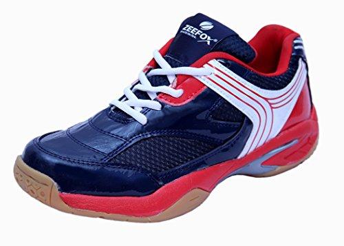 Zeefox Slice Men's (Non-Marking) PU Badminton Shoes Navy Blue (9)