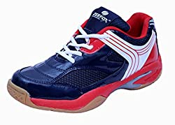 Zeefox Slice Mens (Non-Marking) PU Badminton Shoes Navy Blue (8)